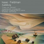 """Eröffnung der Ausstellung von Isaak Feldmann """"Poesie der Elemente""""  , 12. September um 12:30"""