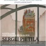 23 марта 2016, 18:00 Открытие выставки Сергея Пиетиля «Гамбург — как я его вижу». Городские пейзажи
