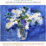 Четверг, 23 июня 2016, 18:00 «Вдохновение» Закрытие выставки акварельных листов Ольги Герлах